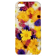 Colorful Flowers Pattern Apple Iphone 5 Hardshell Case