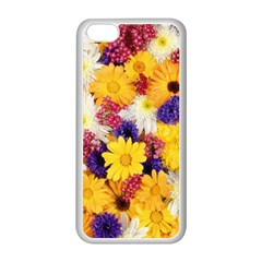 Colorful Flowers Pattern Apple Iphone 5c Seamless Case (white)