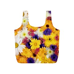 Colorful Flowers Pattern Full Print Recycle Bags (s)