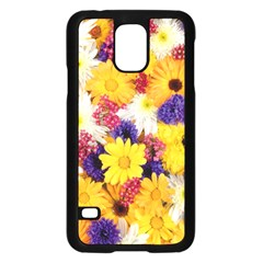 Colorful Flowers Pattern Samsung Galaxy S5 Case (black)