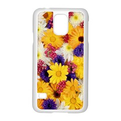 Colorful Flowers Pattern Samsung Galaxy S5 Case (white)