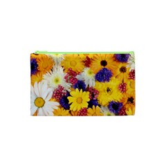 Colorful Flowers Pattern Cosmetic Bag (xs)