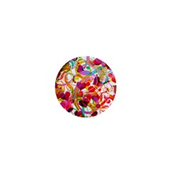 Abstract Colorful Heart 1  Mini Buttons