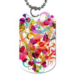 Abstract Colorful Heart Dog Tag (two Sides)