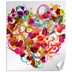 Abstract Colorful Heart Canvas 20  X 24