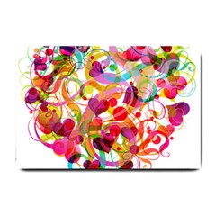 Abstract Colorful Heart Small Doormat