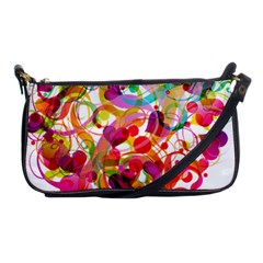 Abstract Colorful Heart Shoulder Clutch Bags