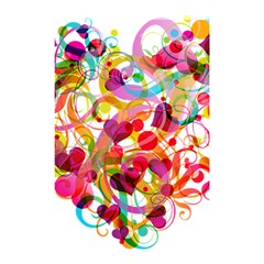 Abstract Colorful Heart Shower Curtain 48  X 72  (small)