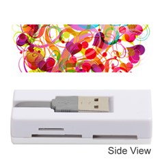 Abstract Colorful Heart Memory Card Reader (stick)