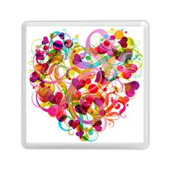 Abstract Colorful Heart Memory Card Reader (square)