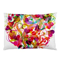 Abstract Colorful Heart Pillow Case (two Sides)