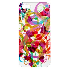 Abstract Colorful Heart Apple Iphone 5 Hardshell Case