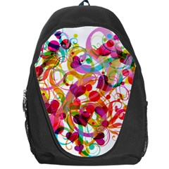 Abstract Colorful Heart Backpack Bag