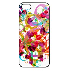 Abstract Colorful Heart Apple Iphone 5 Seamless Case (black)