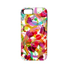 Abstract Colorful Heart Apple Iphone 5 Classic Hardshell Case (pc+silicone)