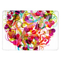 Abstract Colorful Heart Samsung Galaxy Tab 10 1  P7500 Flip Case