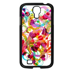 Abstract Colorful Heart Samsung Galaxy S4 I9500/ I9505 Case (black)