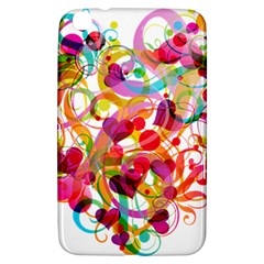 Abstract Colorful Heart Samsung Galaxy Tab 3 (8 ) T3100 Hardshell Case