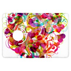 Abstract Colorful Heart Kindle Fire Hdx Flip 360 Case