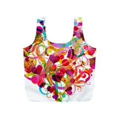 Abstract Colorful Heart Full Print Recycle Bags (s)