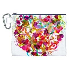 Abstract Colorful Heart Canvas Cosmetic Bag (xxl)