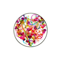 Abstract Colorful Heart Hat Clip Ball Marker