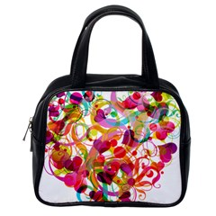 Abstract Colorful Heart Classic Handbags (one Side)