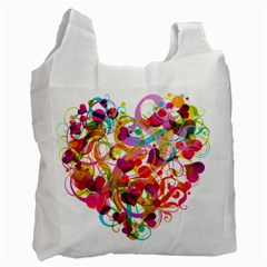 Abstract Colorful Heart Recycle Bag (two Side)