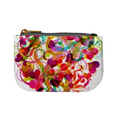 Abstract Colorful Heart Mini Coin Purses