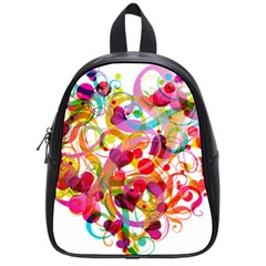 Abstract Colorful Heart School Bags (small)
