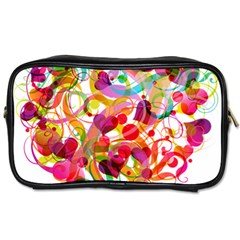 Abstract Colorful Heart Toiletries Bags
