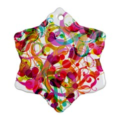 Abstract Colorful Heart Ornament (snowflake)