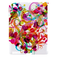 Abstract Colorful Heart Apple Ipad 3/4 Hardshell Case (compatible With Smart Cover)