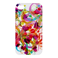 Abstract Colorful Heart Apple Iphone 4/4s Premium Hardshell Case