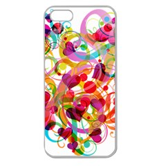 Abstract Colorful Heart Apple Seamless Iphone 5 Case (clear)