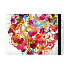 Abstract Colorful Heart Apple Ipad Mini Flip Case