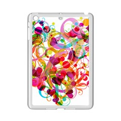 Abstract Colorful Heart Ipad Mini 2 Enamel Coated Cases