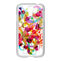 Abstract Colorful Heart Samsung Galaxy S4 I9500/ I9505 Case (white)