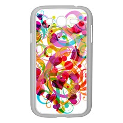 Abstract Colorful Heart Samsung Galaxy Grand Duos I9082 Case (white)