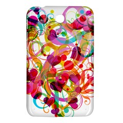 Abstract Colorful Heart Samsung Galaxy Tab 3 (7 ) P3200 Hardshell Case