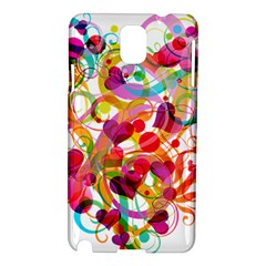 Abstract Colorful Heart Samsung Galaxy Note 3 N9005 Hardshell Case
