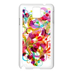 Abstract Colorful Heart Samsung Galaxy Note 3 N9005 Case (white)