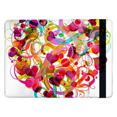 Abstract Colorful Heart Samsung Galaxy Tab Pro 12 2  Flip Case