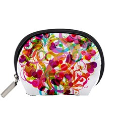Abstract Colorful Heart Accessory Pouches (small)