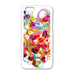 Abstract Colorful Heart Apple Iphone 6/6s White Enamel Case