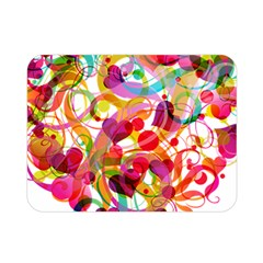 Abstract Colorful Heart Double Sided Flano Blanket (mini)