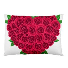 Floral Heart Pillow Case