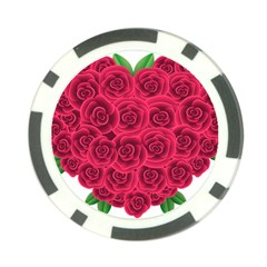 Floral Heart Poker Chip Card Guard (10 Pack)