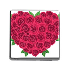 Floral Heart Memory Card Reader (square)