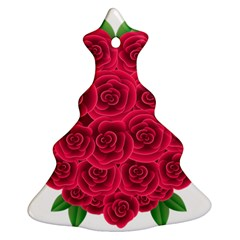 Floral Heart Ornament (christmas Tree)